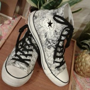 Converse Chuck Taylor Womens Outline Floral High Top